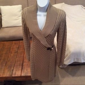 Calvin Klein buckle front sweater dress